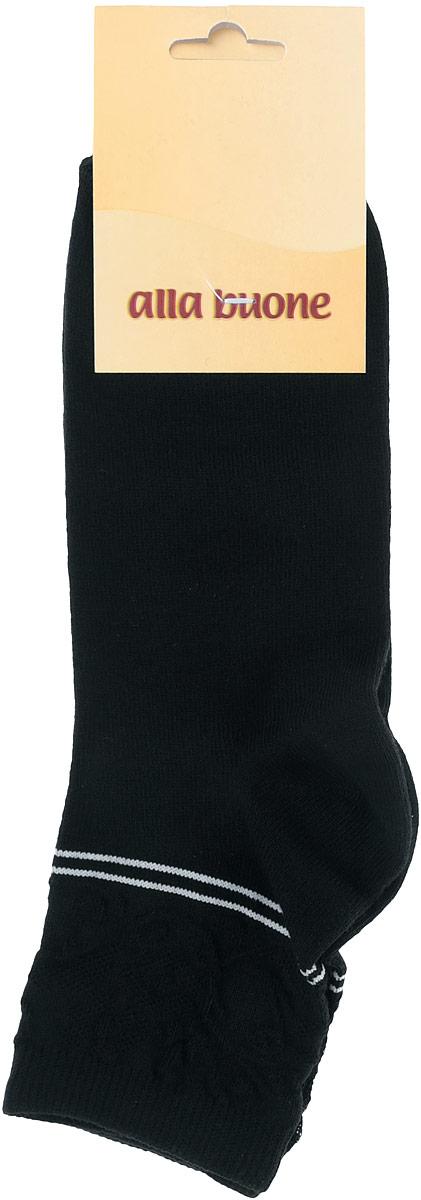 CD025Удобные носки Alla Buone, изготовленные из высококачественного комбинированного материала, очень мягкие и приятные на ощупь, позволяют коже дышать. Эластичная резинка плотно облегает ногу, не сдавливая ее, обеспечивая комфорт и удобство. Носки с ажурным паголенком средней длины и контрастными полосками. Практичные и комфортные носки великолепно подойдут к любой вашей обуви.