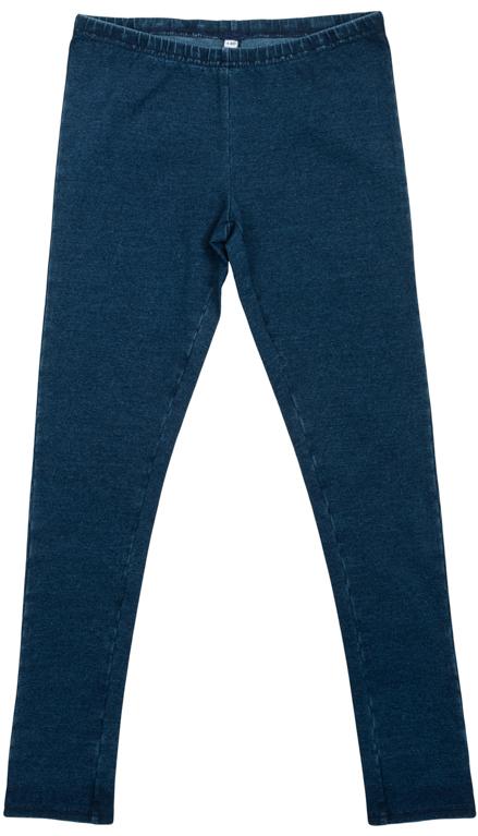 Брюки для девочек. 364175364175Стильные трикотажные леггинсы с имитацией джинсовой ткани. Пояс на мягкой резинке.