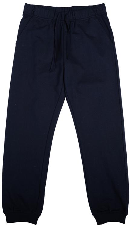 363092Мягкие брюки из футера в спортивном стиле. Пояс на резинке, дополнительно утягивается тесьмой. Есть два функциональных кармана по бокам. Низ штанишек на трикотажной резинке.
