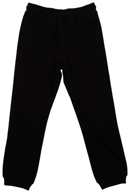 Брюки363142Уютные хлопковые брюки в спортивном стиле для мальчика. Брюки прямого кроя и стандартной посадки на талии имеют пояс на резинке, дополнительно регулируемый шнурком. По бокам брюки дополнены лампасами цвета серый меланж. Низ брючин оформлен мягкой трикотажной резинкой.
