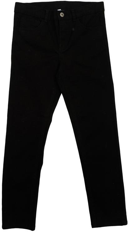 Брюки363127Стильные твиловые брюки для мальчика. Брюки прямого кроя и стандартной посадки на талии застегиваются на пуговицу и имеют ширинку на застежке-молнии. Модель представляет собой классическую пятикарманку: два втачных и один маленький накладной кармашек спереди и два прорезных кармана сзади. На поясе имеются шлевки для ремня.