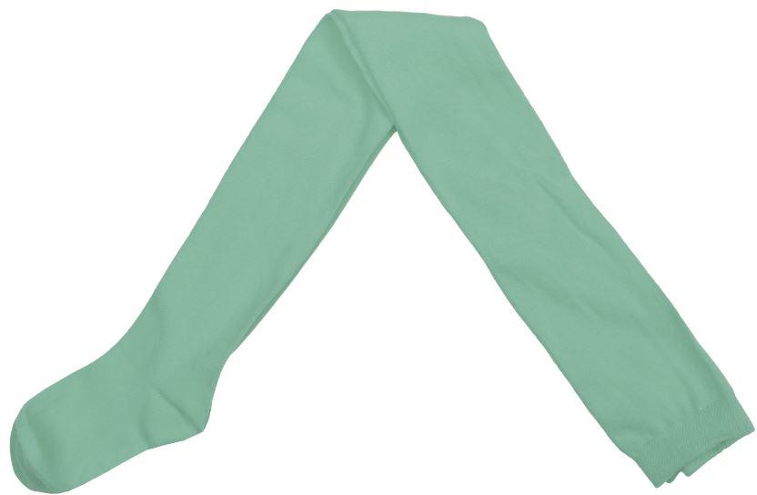Колготки для девочек. 364177364177Стильные колготки припыленного зеленого цвета с фактурным узором. Верх на мягкой резинке.