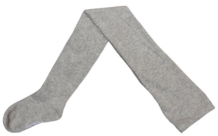 Колготки для девочек. 364147364147Уютные хлопковые колготки цвета светло-серый меланж. Верх на мягкой резинке.