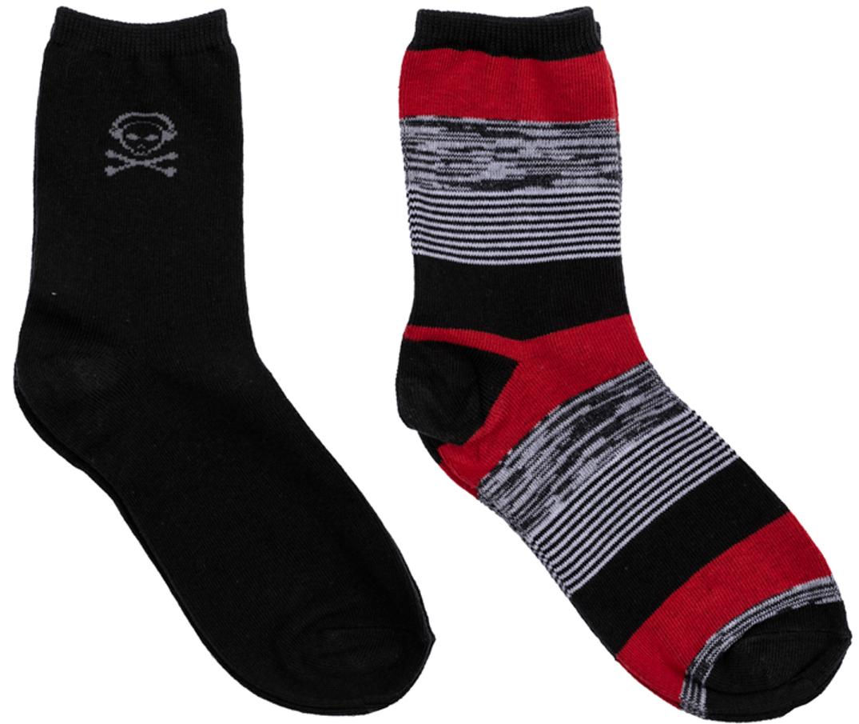 Носки363149Комплект из двух пар уютных хлопковых носков на каждый день. Мягкая и широкая резинка плотно облегает ногу, не сдавливая ее.