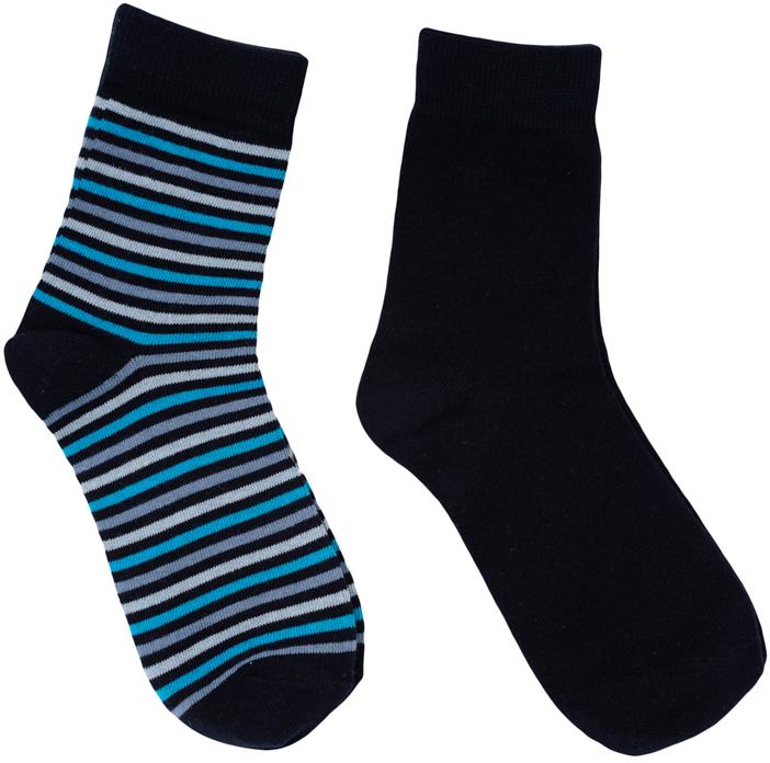 Носки363097Комплект из двух пар уютных хлопковых носков на каждый день. Мягкая и широкая резинка плотно облегает ногу, не сдавливая ее.