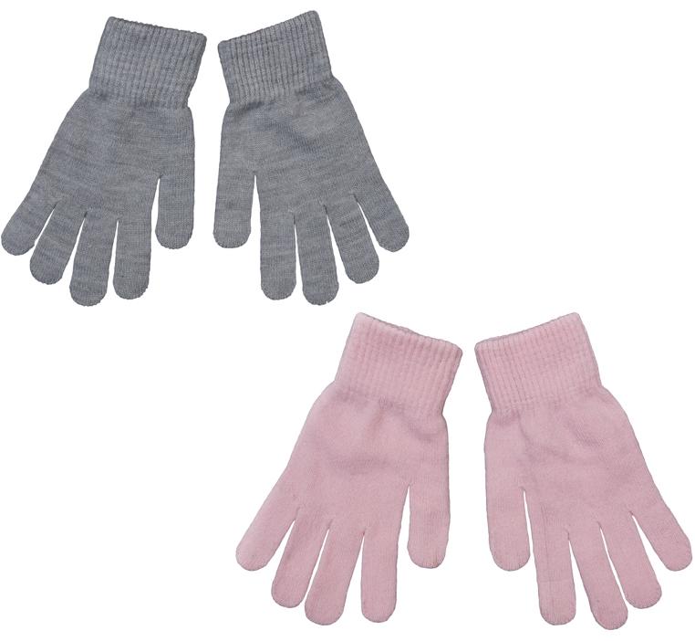Перчатки детские364142Комплект из двух пар уютных перчаток, выполненных из мягкого вязаного трикотажа. Верх оформлен мягкой вязаной резинкой.