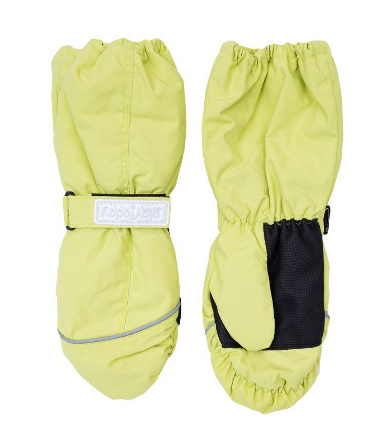 Варежки детские364186Яркие рукавицы для девочки выполнены из современной водонепроницаемой и ветрозащитной ткани. Мягкая подкладка из флиса и утеплитель отлично сохраняют тепло. На запястье каждой рукавицы расположены резинка и небольшой хлястик на липучке, в верхней части изделия также присборены на эластичные резинки. Ладошки дополнены вставкой из усиленного антискользящего материала. Рукавицы дополнены светоотражателями и креплениями для куртки.