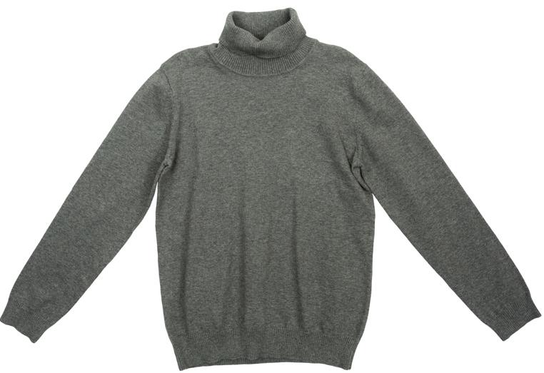 Свитер363124Уютный свитер из мягкого трикотажа мелкой вязки с высоким воротничком, который надежно защитит от ветра. Универсальный цвет модели позволяет сочетать ее с любой одеждой. Рукава и низ изделия выполнены из широкой вязаной резинки.