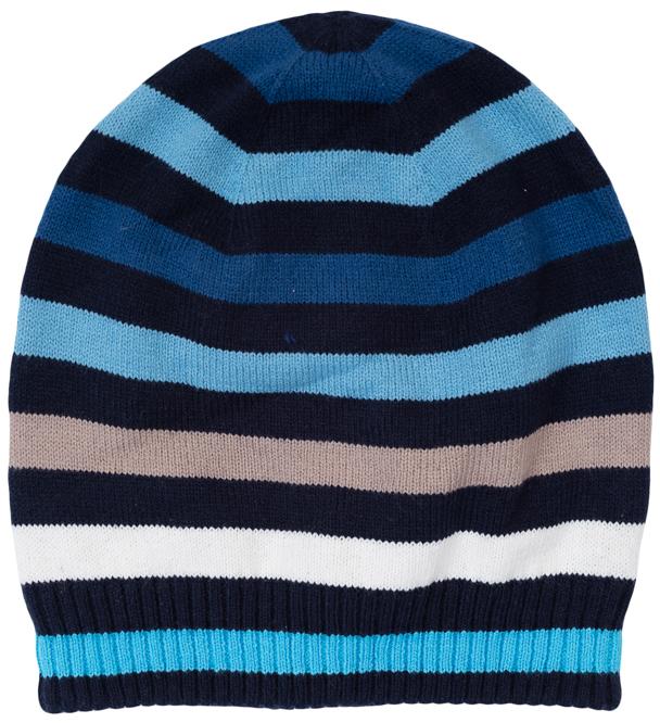 363093Уютная шапка для мальчика выполнена из двухслойного вязаного трикотажа и оформлена рисунком в яркую полоску. Низ дополнен мягкой резинкой. Уважаемые клиенты! Обращаем ваше внимание на тот факт, что размер, доступный для заказа, является обхватом головы.