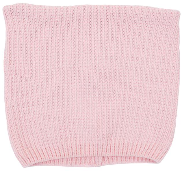 Шапка для девочек. 364138364138Уютная вязаная шапочка клубнично-розового цвета. Украшена мелкими серебристыми пайетками, придающими мерцание. Внутри уютная велюровая подкладка. Необычная квадратная форма создает эффект декоративных ушек.
