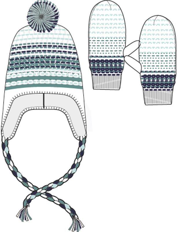 Шапка для девочек. 364148364148Уютная вязаная шапочка в основных цветах коллекции. Украшена забавным помпоном, есть завязки. Внутри уютная флисовая подкладка.