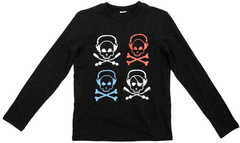 Футболка для мальчиков. 363135363135Уютная футболка с длинными рукавами. Украшена стильным категоричным принтом. На воротнике эластичная бейка.