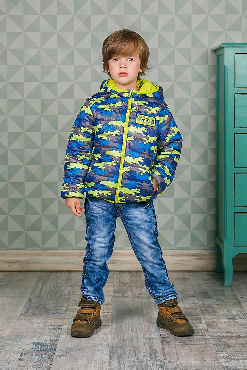 Куртка206360Теплая стеганая куртка Sweet Berry для мальчика выполнена из полиэстера. Куртка с капюшоном застегивается на застежку-молнию с защитой подбородка и имеет внутреннюю ветрозащитную планку. Низ модели, капюшон и рукава дополнены эластичным кантом. Спереди располагаются два функциональных кармана.