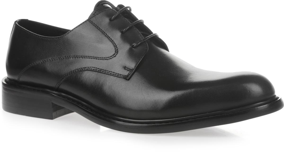 CRP22_1562-21_BLACKСтильные мужские туфли от El Tempo придутся вам по душе. Модель, изготовленная из натуральной кожи, оформлена вдоль ранта крупной прострочкой. Классическая шнуровка надежно зафиксирует изделие на ноге. Внутренняя поверхность и стелька выполнены из натуральной кожи, что создаст комфорт и предотвратит натирание. Подошва, сделанная из кожволона (кожеподобная пористая резина), выглядит стильно, дорого, модно и элегантно. Классические туфли не оставят равнодушным ни одного мужчину.