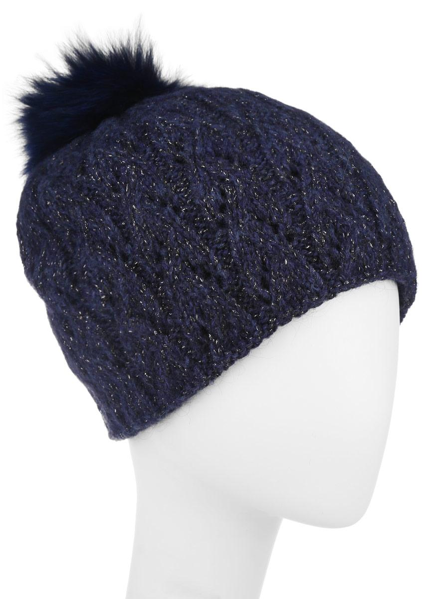 Шапка женская. B346530B346530Вязаная женская шапка Baon отлично подойдет для модниц в холодное время года. Она мягкая и приятная на ощупь, обладает хорошими дышащими свойствами и максимально удерживает тепло. Красивый съемный помпон из натурального меха отлично дополняет головной убор. Изделие оформлено крупным вязаным узором, а также дополнено небольшой металлической пластиной с названием бренда. Такой стильный и теплый аксессуар подчеркнет ваш образ и индивидуальность.