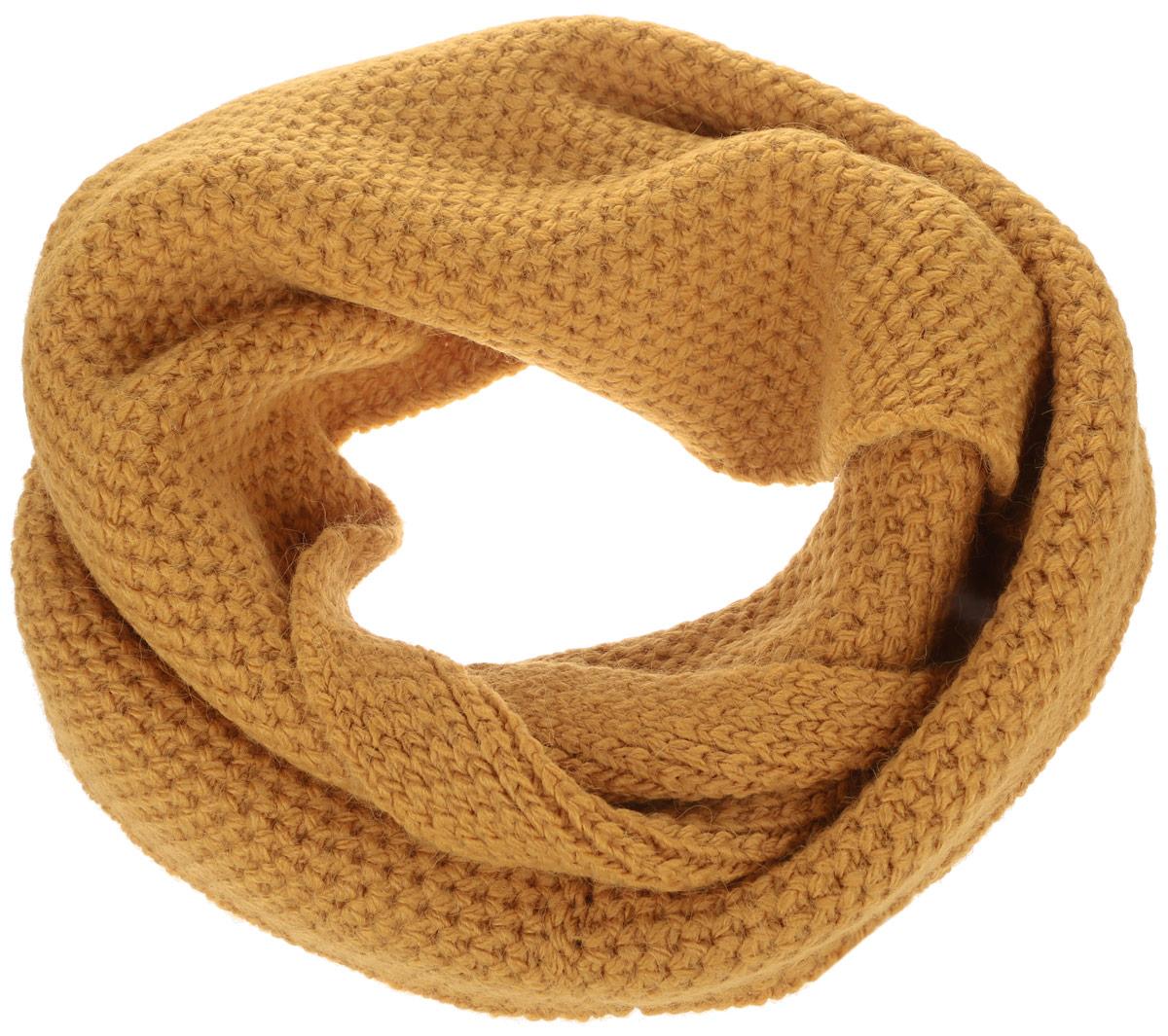 B333Стильный снуд-хомут Baon, выполненный из акрила с добавлением полиамида и эластана, создан подчеркнуть ваш неординарный вкус и согреть вас в прохладное время года. Снуд - это объемный шарф, связанный по кругу, который можно носить не только на шее, но и как головной убор. Этот модный аксессуар гармонично дополнит образ современной женщины, следящей за своим имиджем и стремящейся всегда оставаться стильной и элегантной.