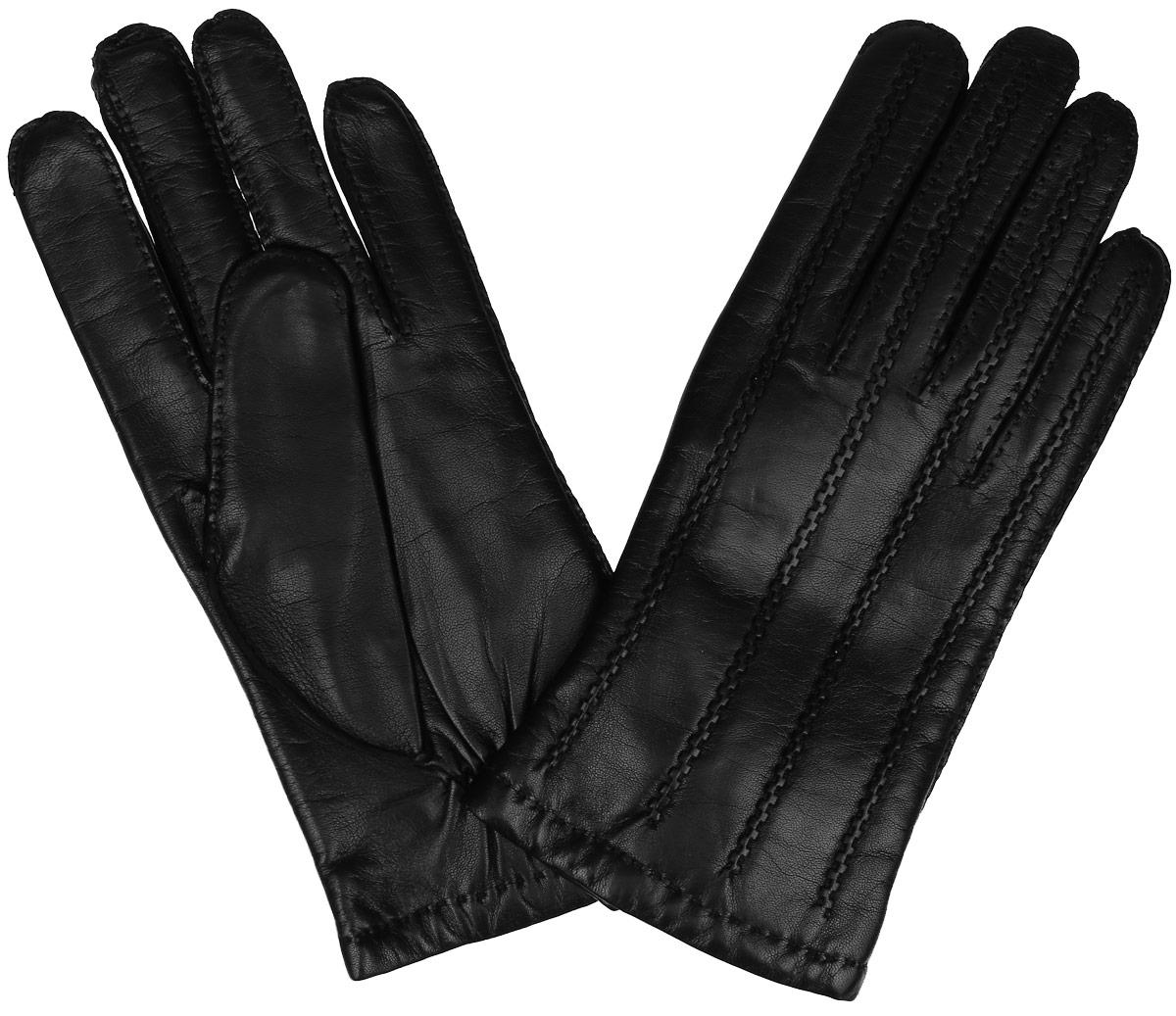 Перчатки мужские. 100_PETRUS100_PETRUS/BLМужские перчатки Dali Exclusive не только защитят ваши руки от холода, но и станут стильным аксессуаром. Перчатки выполнены из мягкой и приятной на ощупь натуральной кожи ягненка, подкладка - из 100% шерсти. Манжеты с тыльной стороны присборены на резинку для лучшего прилегания к запястью. Оформлено изделие декоративными швами. Перчатки станут завершающим и подчеркивающим элементом вашего неповторимого стиля и индивидуальности.