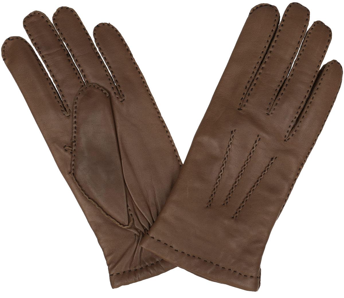 Перчатки мужские. 100_BERLIN100_BERLIN/GR//11Мужские перчатки Dali Exclusive не только защитят ваши руки от холода, но и станут стильным аксессуаром. Перчатки выполнены из мягкой и приятной на ощупь натуральной кожи ягненка, подкладка - из 100% шерсти. Манжеты с тыльной стороны присборены на резинку для лучшего прилегания к запястью. Оформлено изделие декоративными швами. Перчатки станут завершающим и подчеркивающим элементом вашего неповторимого стиля и индивидуальности.