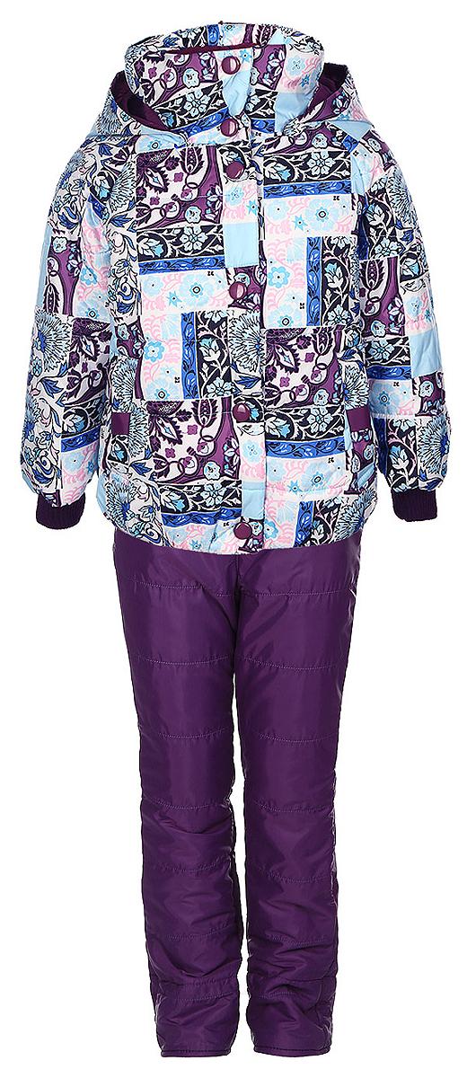 Комплект верхней одежды64048_BOG_вар.1Комплект одежды Boom!, состоящий из куртки и утепленных брюк, идеально подойдет для вашего ребенка в прохладное время года. Куртка изготовлена из 100% полиэстера. Комбинированная подкладка, выполненная из полиэстера с добавлением вискозы, приятная на ощупь. В качестве утеплителя используется синтепон - 100% полиэстер. Куртка с капюшоном и воротником-стойкой застегивается на пластиковую молнию и оснащена внешней ветрозащитной планкой на кнопках. При необходимости тонкий капюшон можно сложить и зафиксировать под воротником при помощи застежек-липучек. На рукавах предусмотрены трикотажные манжеты, которые предотвращают проникновение снега и ветра. Спереди расположены два втачных кармана. Модель дополнена светоотражающими элементами с фирменным логотипом. Куртка оформлена цветочным принтом. Брюки изготовлены из полиэстера на теплой флисовой подкладке. Модель прямого кроя на талии имеет широкий эластичный пояс. Брюки дополнены съемными эластичными наплечными...