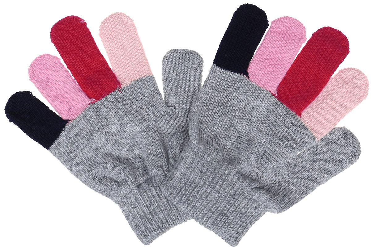 Перчатки детские362040Вязаные перчатки для девочки PlayToday идеально подойдут для прогулок в прохладное время года. Изготовленные из высококачественного материала, очень мягкие и приятные на ощупь, не раздражают нежную кожу ребенка, обеспечивая ему наибольший комфорт, хорошо сохраняют тепло. Яркая модель с разноцветными пальцами выполнена на мягкой резинке, которая не стягивает запястья и надежно фиксирующими перчатки на ручках ребенка. Современный дизайн и расцветка делают эти перчатки модным и стильным предметом детского гардероба. В них ваша малышка будет чувствовать себя уютно и комфортно.