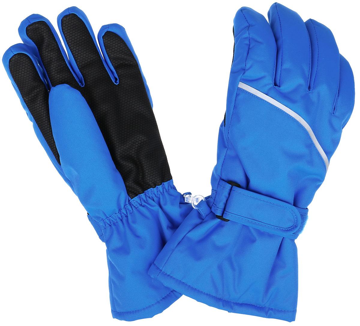 527257-4900Детские перчатки Reima Harald, изготовленные из мембранной ткани с водо- и ветрозащитным покрытием, станут идеальным вариантом для холодной зимней погоды. На подкладке используется мягкий полиэстер с добавлением шерсти, акрила и полиамида. Для большего удобства на запястьях перчатки дополнены хлястиками на липучках с внешней стороны, а на ладошках, кончиках пальцев и с внутренней стороны большого пальца - усиленными вставками Hipora. С внешней стороны перчатки оформлены светоотражающими полосами. Высокая степень утепления. Перчатки станут идеальным вариантом для прохладной погоды, в них ребенку будет тепло и комфортно. Водонепроницаемость: Waterpillar over 10 000 mm