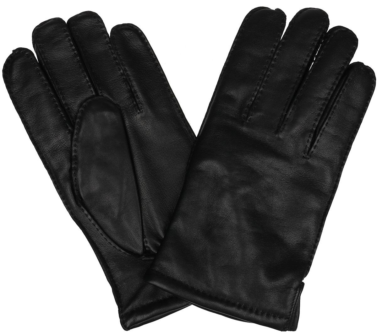 Перчатки мужские. 100_PRS100_PRS/BLМужские перчатки Dali Exclusive не только защитят ваши руки от холода, но и станут стильным аксессуаром. Перчатки выполнены из мягкой и приятной на ощупь натуральной кожи ягненка, подкладка - из 100% шерсти. Манжеты дополнены боковыми разрезами и с тыльной стороны присборены на резинку для лучшего прилегания к запястью. Перчатки станут завершающим и подчеркивающим элементом вашего неповторимого стиля и индивидуальности.