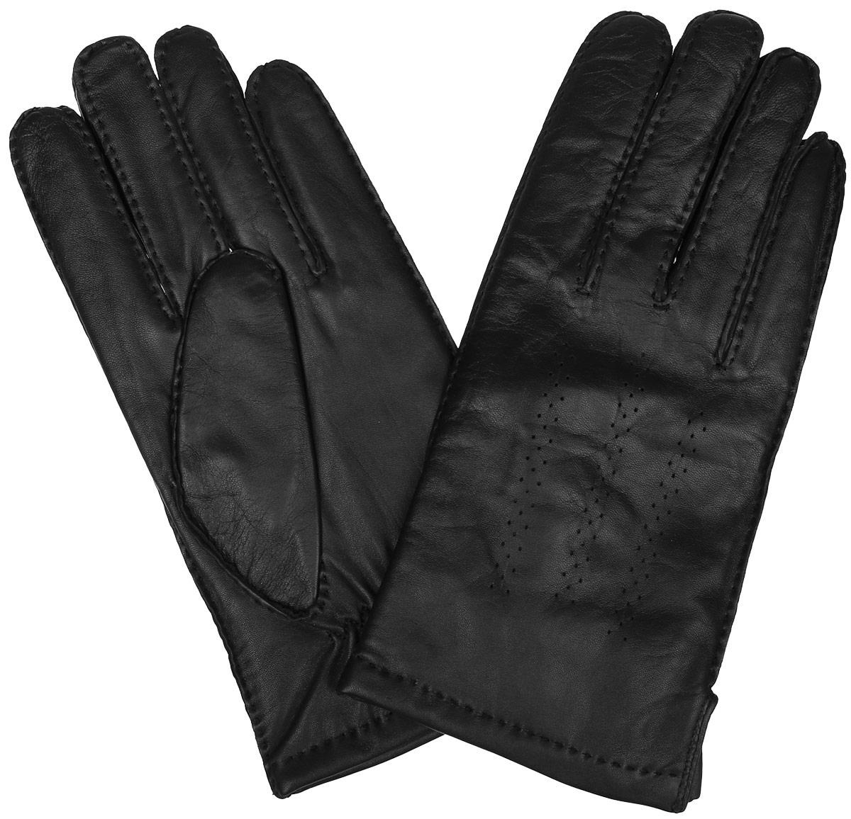 Перчатки мужские. 100_GRES100_GRES/BLКлассические мужские перчатки Dali Exclusive не только защитят ваши руки, но и станут великолепным украшением. Перчатки выполнены из чрезвычайно мягкой и приятной на ощупь натуральной кожи ягненка, а их подкладка - из натуральной овечьей шерсти. Перчатки с внешней стороны оформлены декоративной перфорацией и стежками. Модель благодаря своему лаконичному исполнению прекрасно дополнит образ любого мужчины и сделает его более стильным, придав тонкую нотку брутальности. Создайте элегантный образ и подчеркните свою яркую индивидуальность новым аксессуаром!