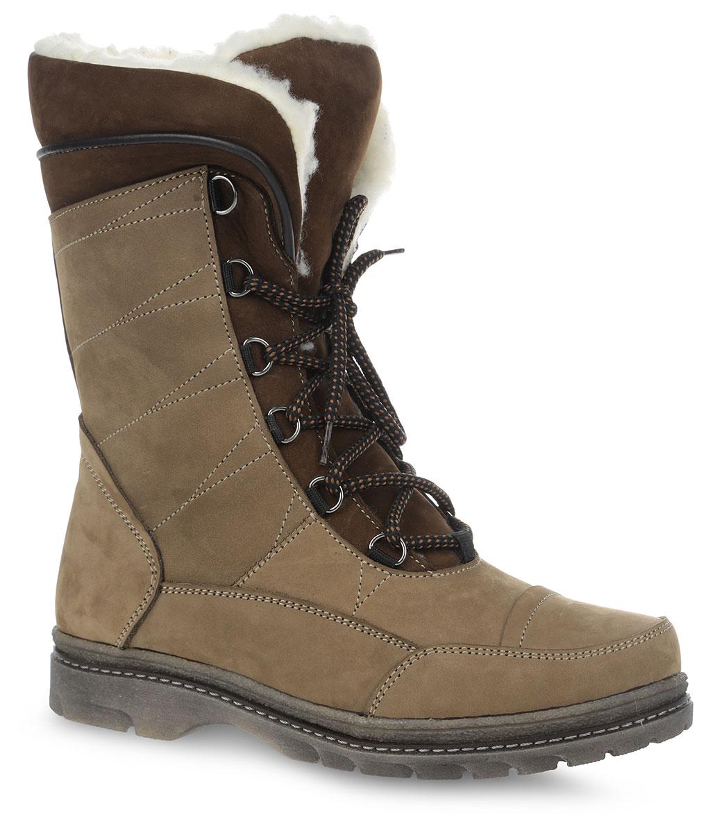7SI_236_BROWN.NМодные ботинки от Spur выполнены из натурального нубука. При помощи шнуровки изделие надежно фиксируется на ноге. Подкладка и стелька из натуральной шерсти сохранят ноги в тепле. Подошва выполнена из прочного материала, обеспечивающего длительную носку и хорошее сцепление с любой поверхностью. В таких ботинках вашим ногам будет комфортно и уютно.