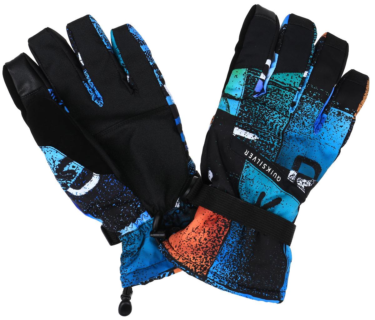 EQYHN03047-BYB8Мужские перчатки Mission из новой сноубордической коллекции Quiksilver предназначены для занятий активными видами спорта. Внешний слой перчаток изготовлен из полиэстера и полиуретана с водостойким покрытием, на ладони и большом пальце - полиуретановый кожзаменитель. Запястье на застежке с удобной регулировкой. Перчатки станут великолепным дополнением вашего образа и защитят ваши руки от холода и ветра во время занятий спортом.