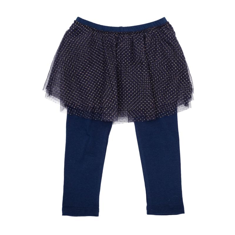 Леггинсы368017Стильные леггинсы с юбкой - универсальная модель, фишка коллекции. Пышная сетчатая юбка придает легкости и воздушности, золотые капельки создают космический эффект. Пояс на мягкой резинке.
