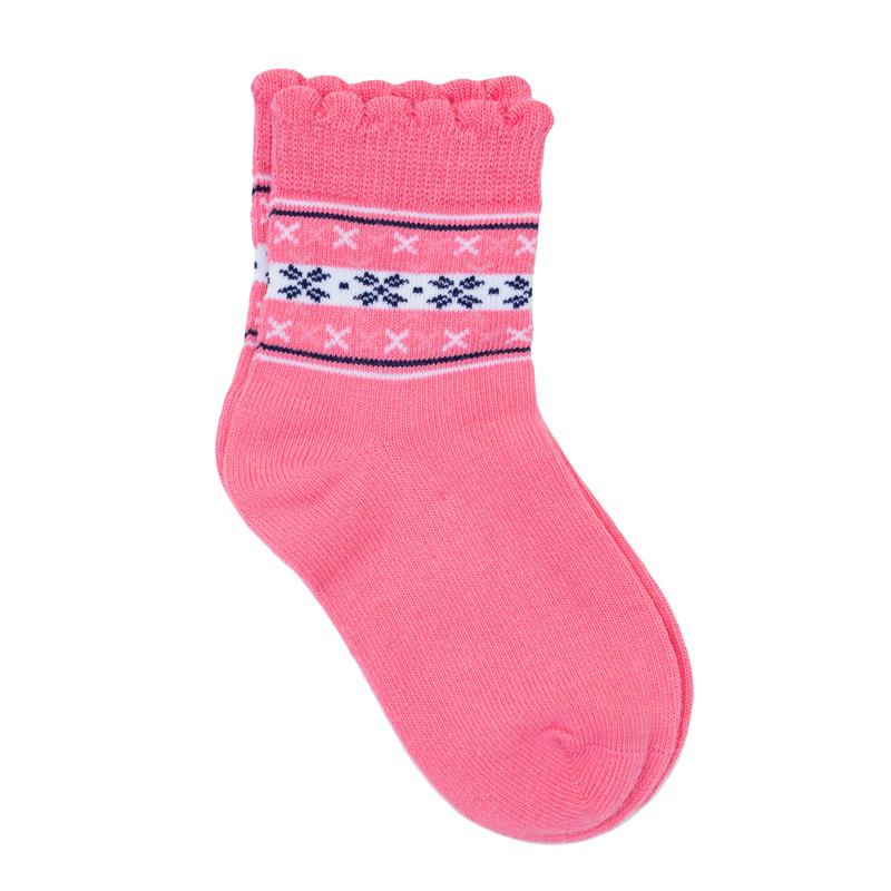 368038Уютные хлопковые носочки. Украшены милым узором, верх на мягкой резинке.