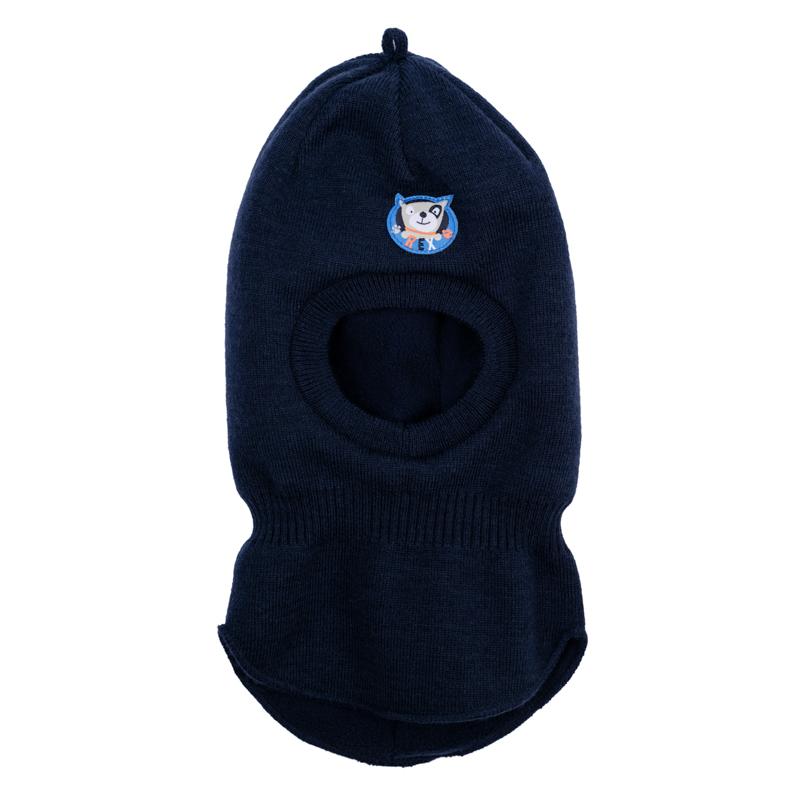 367075Теплая шапка-шлем надежно защитит от ветра. Внутри уютная флисовая подкладка.