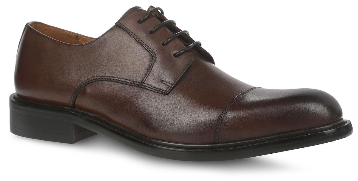 CRP22_1562-1C_BROWNСтильные мужские туфли от El Tempo придутся вам по душе. Модель, изготовленная из натуральной кожи, оформлена вдоль ранта крупной прострочкой. Классическая шнуровка надежно зафиксирует изделие на ноге. Внутренняя поверхность и стелька выполнены из натуральной кожи, что создаст комфорт и предотвратит натирание. Подошва из кожволона (кожеподобная пористая резина) выглядит стильно, дорого, модно и элегантно. Классические туфли не оставят равнодушным ни одного мужчину.