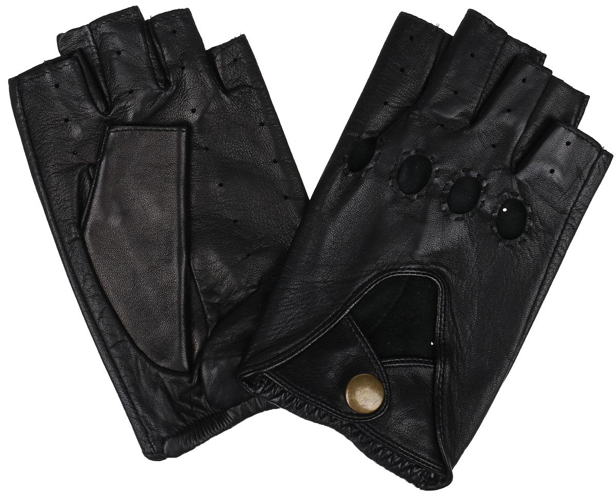 Перчатки без пальцев. IS0.5IS0.5/BLСтильные автомобильные перчатки Dali Exclusive выполнены из мягкой и приятной на ощупь натуральной кожи ягненка. Модель с открытыми пальцами. Благодаря специальным вентиляционным отверстиям и перфорации рукам будет комфортно. На внешней стороне изделие застегивается на кнопку. Такие перчатки подчеркнут ваш стиль и неповторимость.