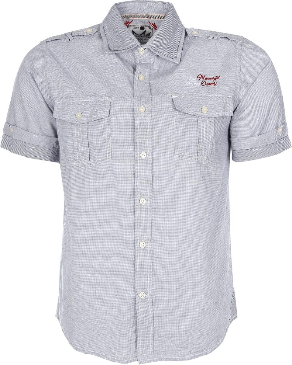 Рубашка мужская. М151 375М151 375Стильная мужская рубашка прямого силуэта с закругленной линией низа - универсальный предмет гардероба. Ее можно носить, как угодно: и с костюмом, и без, и навыпуск, и заправленной в брюки под ремень. Выполнена из высококачественного хлопка, необычайно мягкая и приятная на ощупь. Застегивается на пуговицы по всей длине. Модель с двойным воротником и манжетами. На груди расположены два накладных кармана с клапанами, застегивающимися на пуговицы. На плечах расположены декоративные хлястики. Внутренняя отделка и мелкие наружные элементы придадут вашему образу легкость и непринужденность. Идеальный вариант для ярких событий и мероприятий.