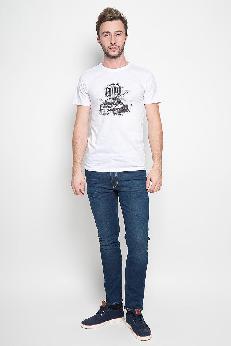 44707Оригинальная мужская футболка RHS World of Tanks, выполненная из высококачественного хлопка, обладает высокой теплопроводностью, воздухопроницаемостью и гигроскопичностью, позволяет коже дышать. Модель с короткими рукавами и круглым вырезом горловины, оформлена крупным принтом спереди на тематику известной игры World of Tanks. Горловина дополнена эластичной трикотажной резинкой. Идеальный вариант для тех, кто ценит комфорт и качество.