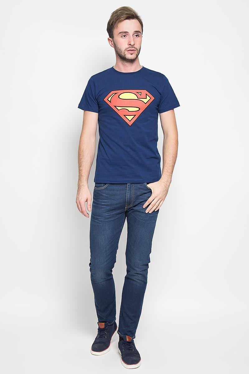 Футболка мужская Superman. 44676/44671/4468144671Оригинальная мужская футболка RHS Superman, выполненная из высококачественного хлопка, обладает высокой теплопроводностью, воздухопроницаемостью и гигроскопичностью, позволяет коже дышать. Модель с короткими рукавами и круглым вырезом горловины, оформлена крупным принтом спереди на тематику известного комикса Superman. Горловина дополнена эластичной трикотажной резинкой. Идеальный вариант для тех, кто ценит комфорт и качество.