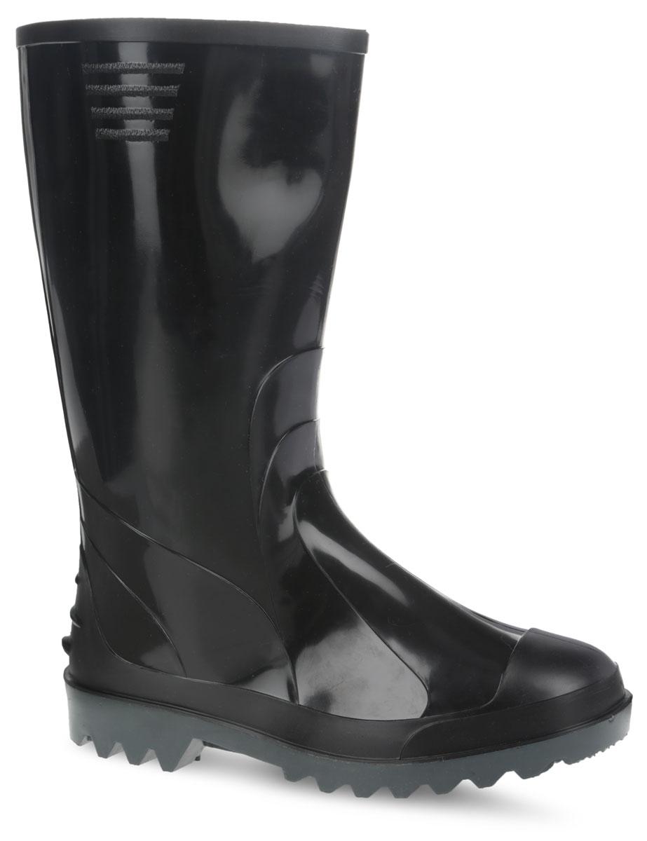170/У/(НТП)Стильные мужские резиновые сапоги Дюна - идеальная обувь в дождливую погоду. Сапоги полностью выполнены из ПВХ (поливинилхлорид). Модель оснащена съемным текстильным носком, который не даст ногам замерзнуть. Подошва с агрессивным протектором обеспечивает сцепление с любой поверхностью. В таких резиновых сапогах вашим ногам будет комфортно и уютно.