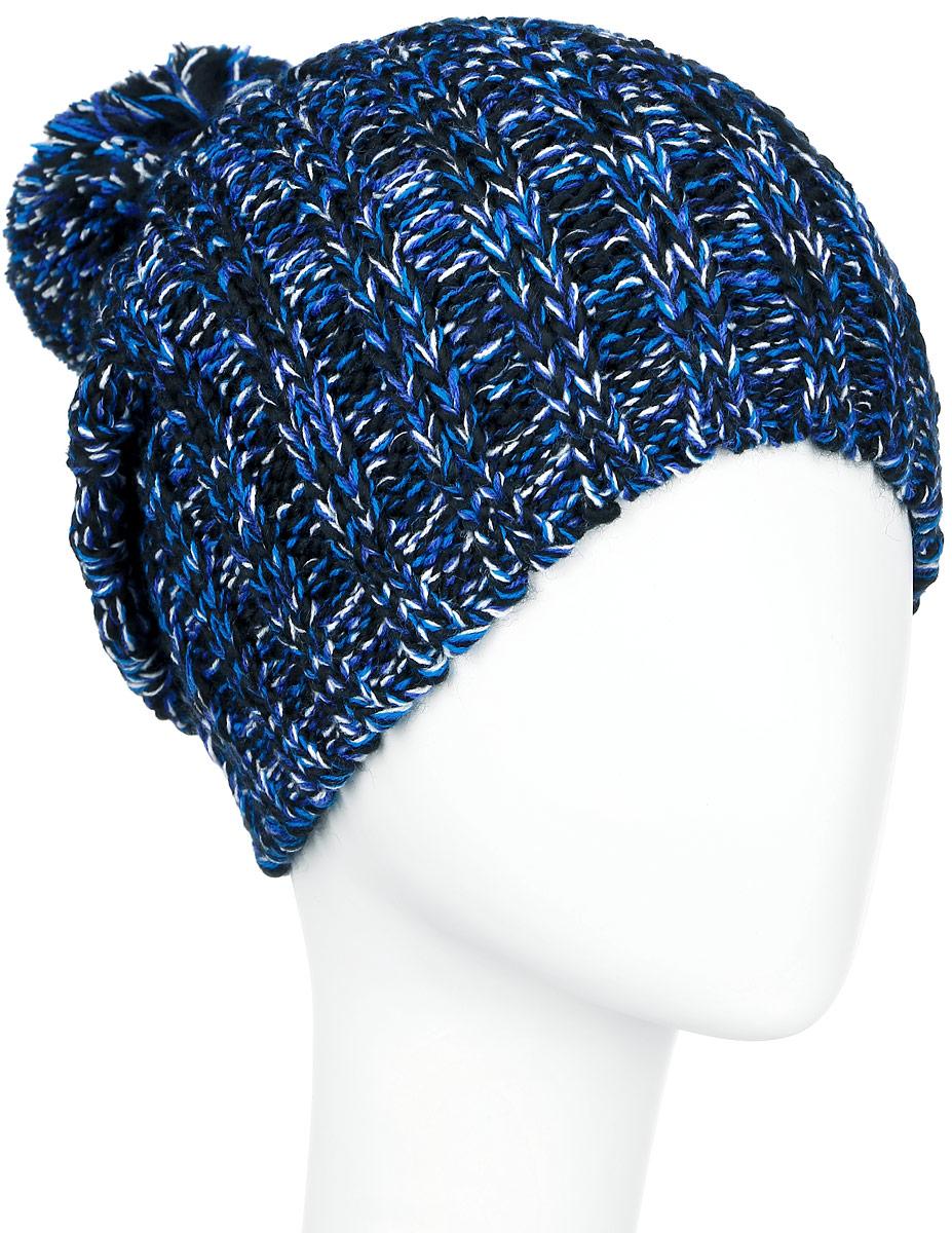 ШапкаA16-32121_101Стильная женская шапка Finn Flare дополнит ваш наряд и не позволит вам замерзнуть в холодное время года. Шапка выполнена из высококачественной, комбинированной пряжи, что позволяет ей великолепно сохранять тепло и обеспечивает высокую эластичность и удобство посадки. Изделие дополнено теплой флисовой подкладкой. Модель с удлиненной макушкой оформлена оригинальным узором и дополнена пушистым помпоном. Такая шапка станет модным и стильным дополнением вашего гардероба. Она согреет вас и позволит подчеркнуть свою индивидуальность! Уважаемые клиенты! Размер, доступный для заказа, является обхватом головы.