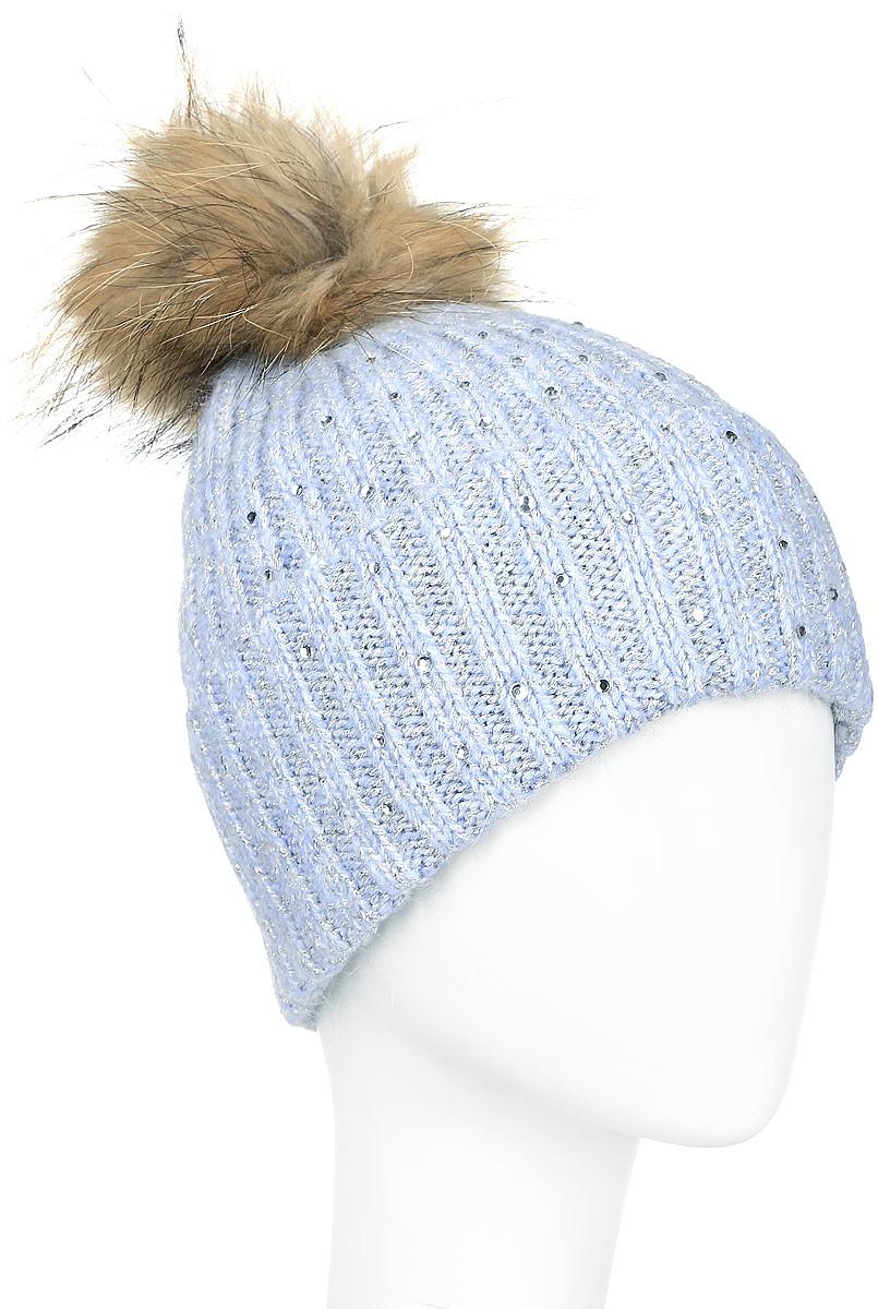 A16-11162_101Стильная женская шапка Finn Flare дополнит ваш наряд и не позволит вам замерзнуть в холодное время года. Шапка выполнена из высококачественной комбинированной пряжи, что позволяет ей великолепно сохранять тепло и обеспечивает высокую эластичность и удобство посадки. Модель оформлена стразами и дополнена пушистым помпоном из меха енота. Такая шапка станет модным и стильным дополнением вашего гардероба. Она согреет вас и позволит подчеркнуть свою индивидуальность!