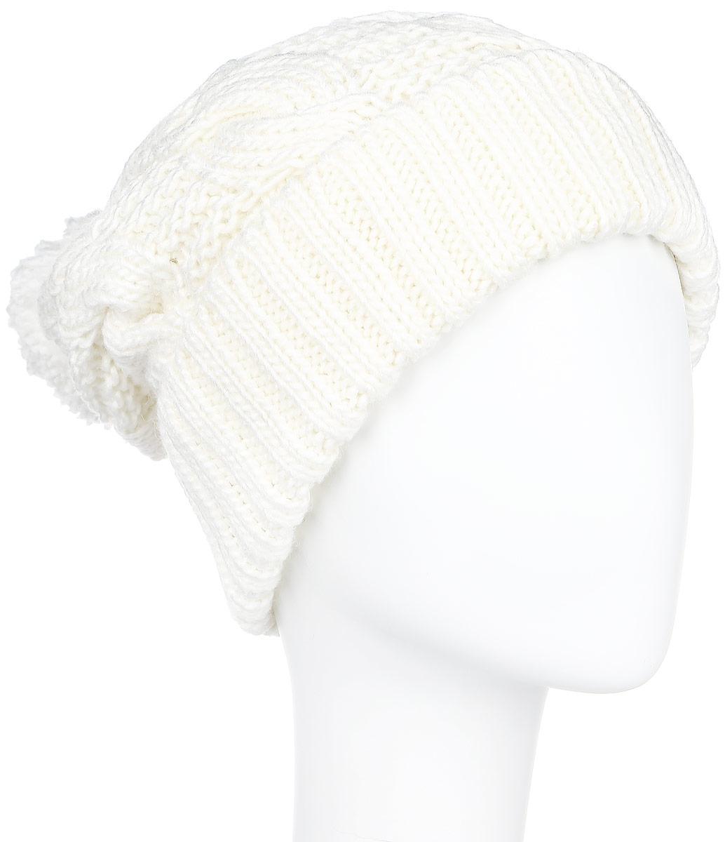 ШапкаA16-32124_201Стильная женская шапка Finn Flare дополнит ваш наряд и не позволит вам замерзнуть в холодное время года. Шапка выполнена из высококачественной, комбинированной пряжи, что позволяет ей великолепно сохранять тепло и обеспечивает высокую эластичность и удобство посадки. Изделие дополнено теплой флисовой подкладкой. Модель с удлиненной макушкой оформлена оригинальным узором и дополнена пушистым помпоном. Такая шапка станет модным и стильным дополнением вашего гардероба. Она согреет вас и позволит подчеркнуть свою индивидуальность! Уважаемые клиенты! Размер, доступный для заказа, является обхватом головы.