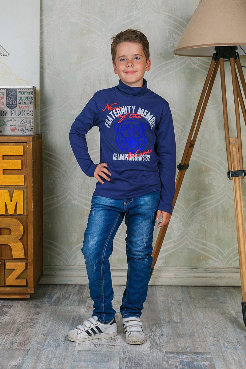 Водолазка206758Водолазка для мальчика Luminoso выполнена из хлопка с добавлением эластана. Модель с длинными рукавами и воротником гольф.