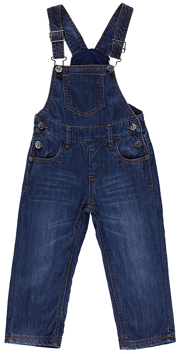 206130Стильный полукомбинезон Sweet Berry для мальчика выполнен из комфортного джинсового материала. Модель по бокам застегивается на пуговицы, на поясе имеются шлевки для ремня. Изделие дополнено пятью удобными карманами: двумя втачными карманами на полукомбинезоне спереди, двумя накладными сзади и накладным кармашком на груди. Универсальный цвет позволяет сочетать модель с любой одеждой.
