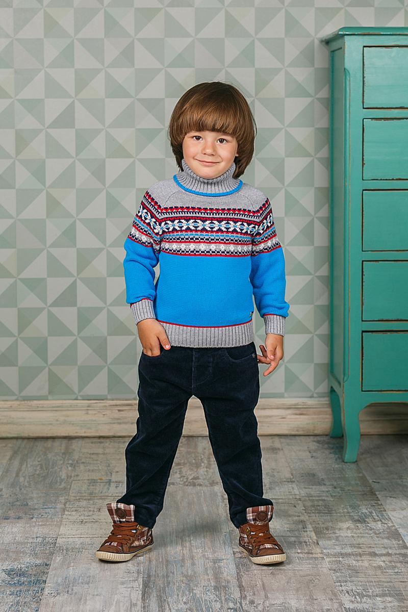 Свитер206154Теплый вязаный свитер Sweet Berry для мальчика идеально подойдет вашему ребенку в прохладные дни. Уютный свитер с длинными рукавами имеет высокий воротник-гольф с отворотом. Низ рукавов, воротник и низ изделия дополнены вязаной крупной резинкой. Оформлен оригинальным узором.