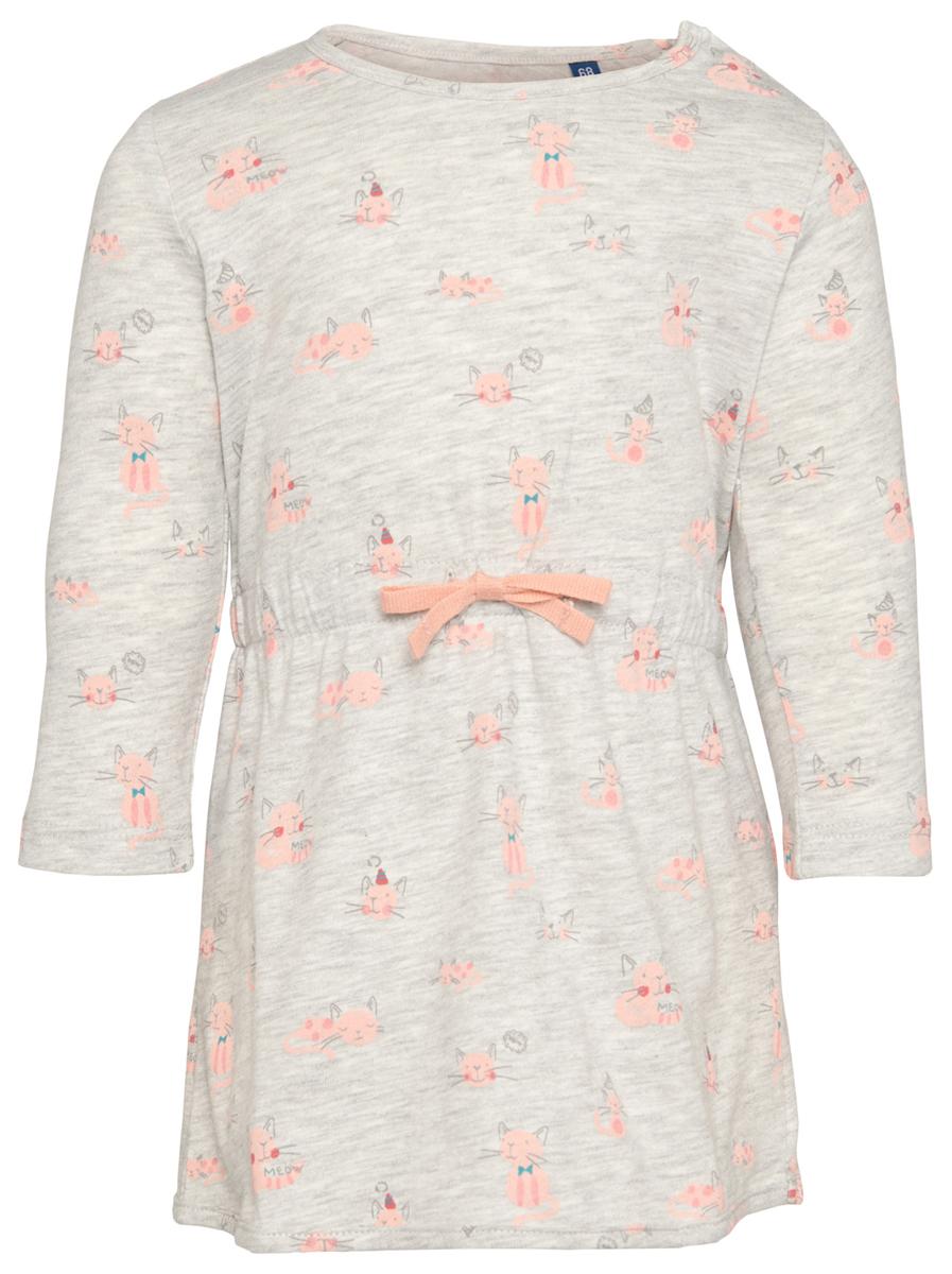 Платье5019341.00.21_8353Платье для девочки Tom Tailor отлично подойдет вашей маленькой моднице. Выполненное из хлопка с добавлением вискозы, оно мягкое и приятное на ощупь, не сковывает движения и позволяет коже дышать, обеспечивая комфорт. Платье с длинными рукавами и круглым вырезом горловины имеет застежки-кнопки по плечевому шву, что позволяет с легкостью переодеть малышку. По линии талии платье собрано на мягкую резинку. Модель оформлена принтом с изображением котиков, украшена текстильным бантиком В таком платье маленькая принцесса всегда будет в центре внимания!