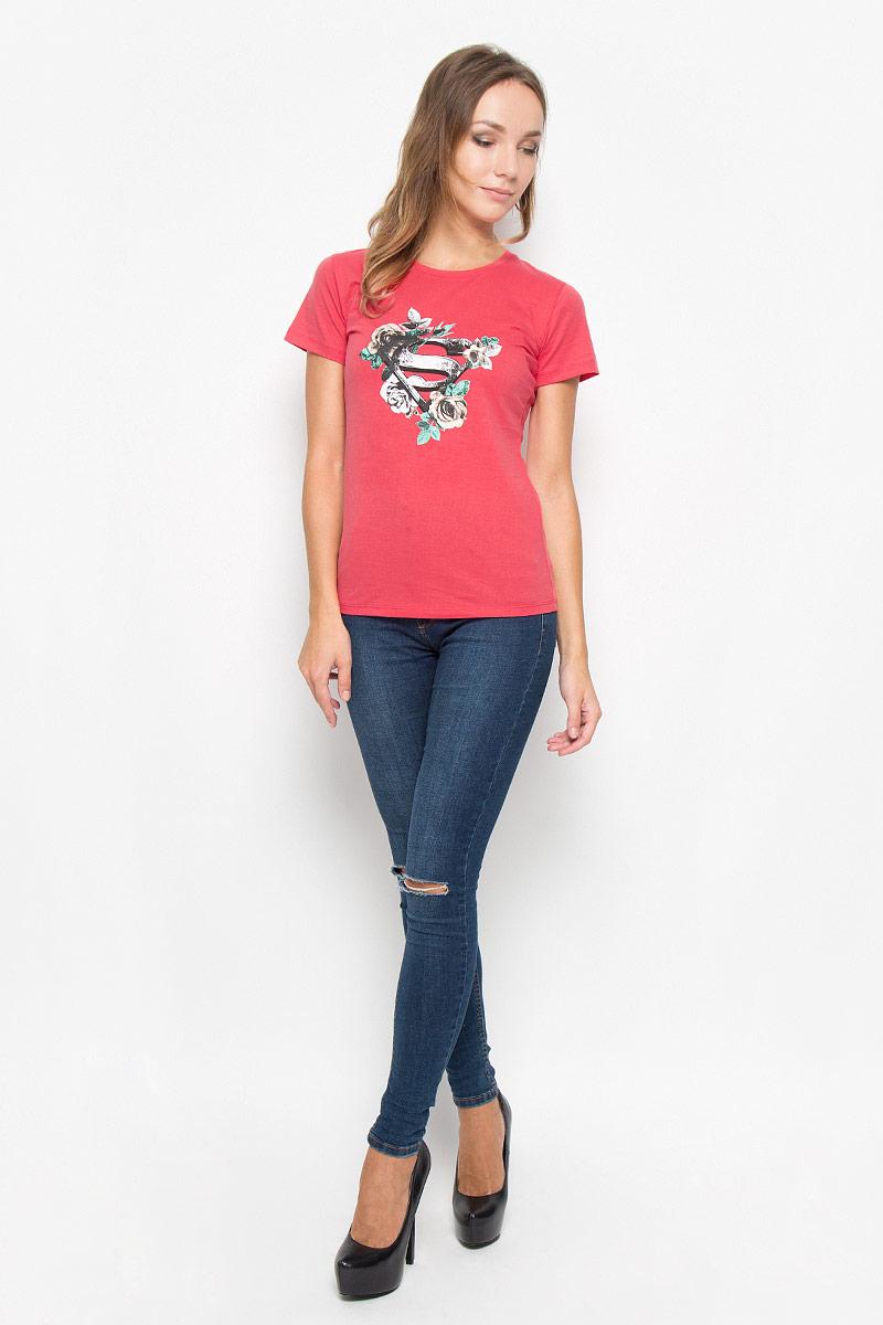 Футболка44430Женская футболка RHS Superman, выполненная из натурального хлопка, поможет создать отличный современный образ в стиле Casual. Футболка с круглым вырезом горловины и короткими рукавами. Модель оформлена ярким принтом в виде цветов и знака супермена. Такая футболка станет стильным дополнением к вашему гардеробу, она подарит вам комфорт в течение всего дня!