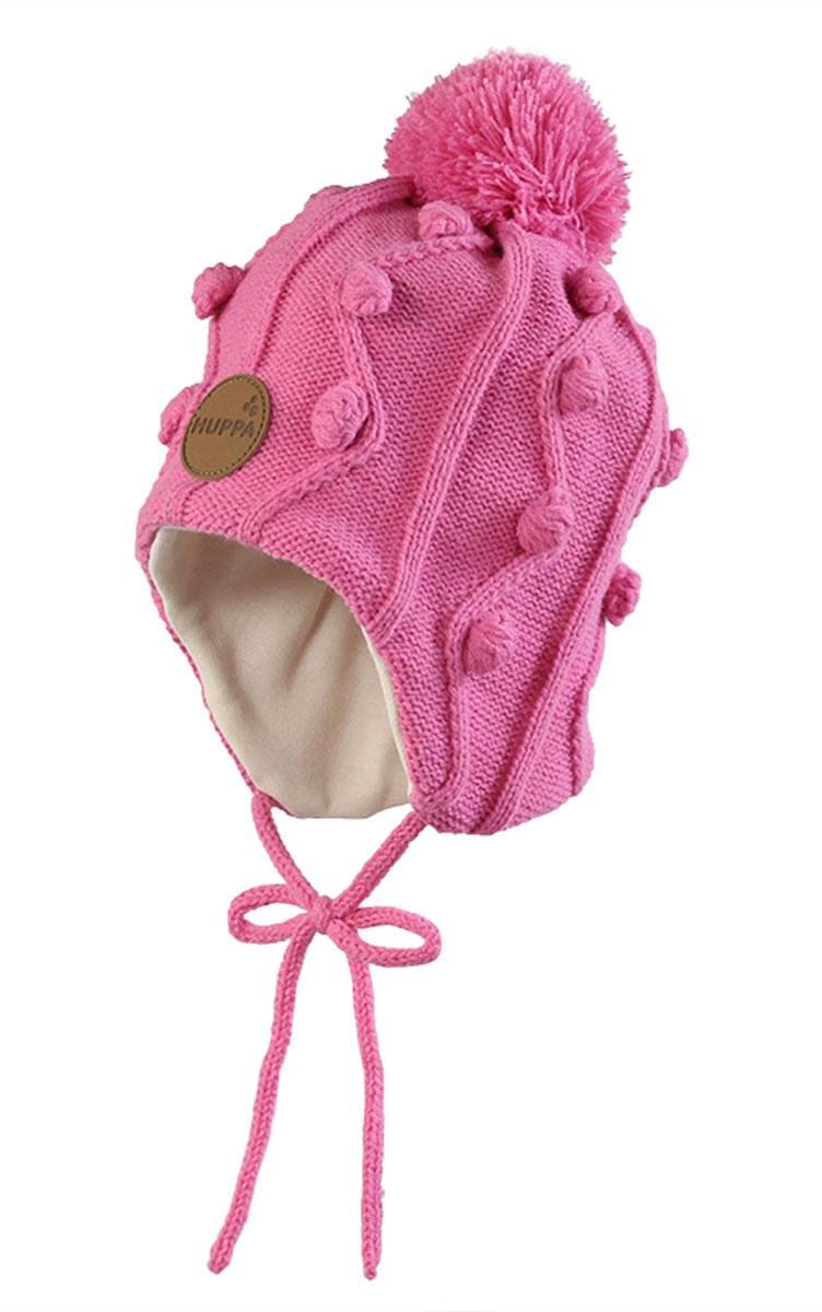 Вязаная детская шапка ULLA. 83880000-6001383880000-60013Вязаная шапка ULLA для девочек, на подкладке из 100% хлопка.