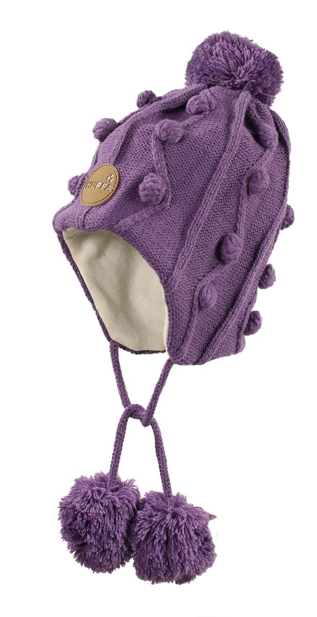 Вязаная детская шапка ULLA. 83880000-6005383880000-60053Вязаная шапка ULLA для девочек, на подкладке из 100% хлопка.