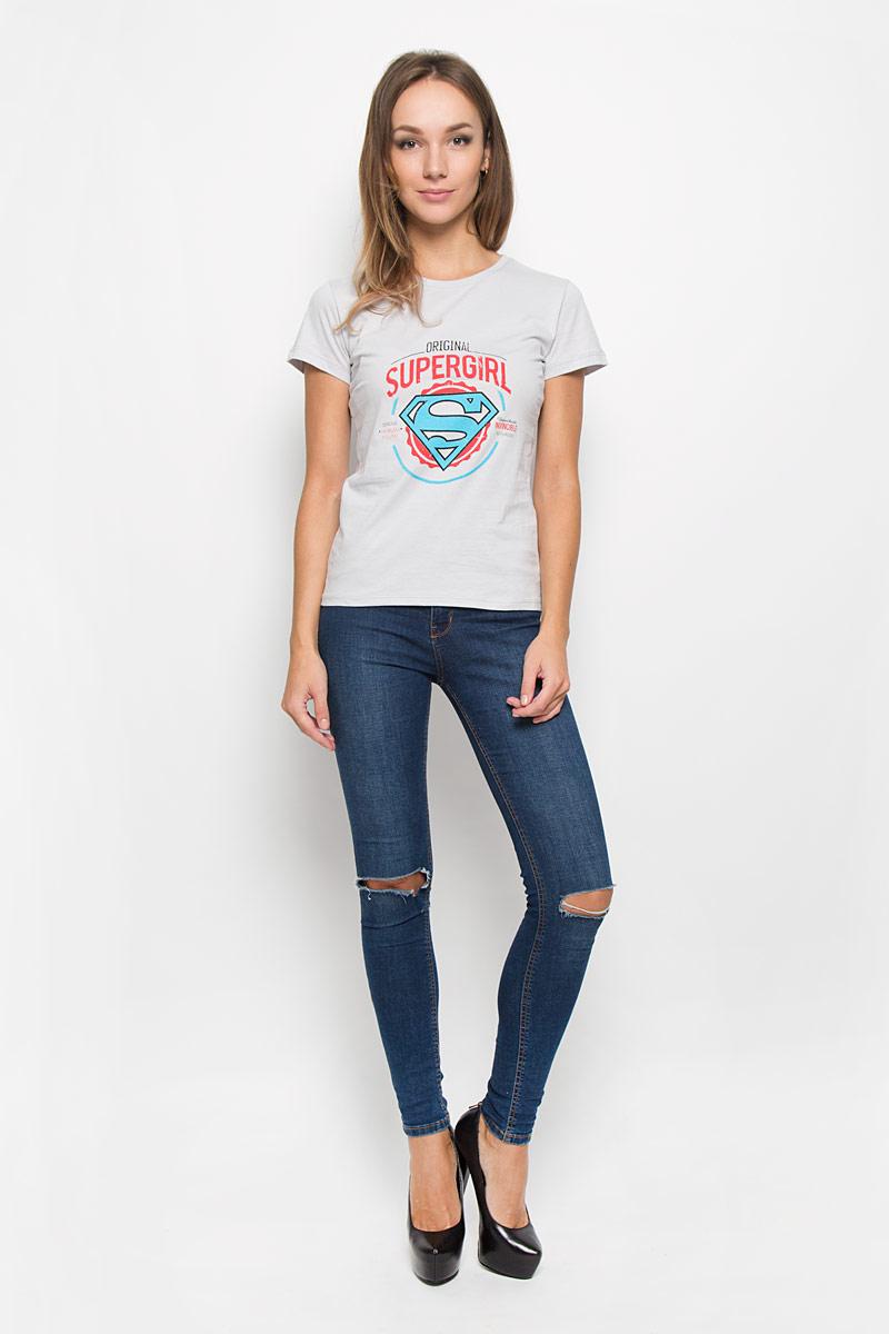 Футболка44732Стильная женская футболка RHS Superman, выполненная из натурального хлопка, поможет создать отличный современный образ в стиле Casual. Футболка с круглым вырезом горловины и короткими рукавами. Модель оформлена термоаппликацией в виде знака супермена и принтовыми надписями на английском языке. Такая футболка станет стильным дополнением к вашему гардеробу, она подарит вам комфорт в течение всего дня!