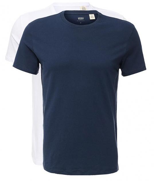 Комплект мужских футболок, 2 шт. 82176000408217600040Однотонные футболки прямого покроя.